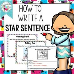 FREE - Students will practice sentence structure with these picture prompts of kids doing a variety of things. Students will write the naming part, the telling part, and then combine both parts to write a simple sentence. Kindergarten Writing, Teaching Writing, Writing Activities, Teaching Resources, Teaching Ideas, Kindergarten Freebies, Writing Resources, Parts Of A Sentence, Sentence Writing