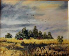 Mocsaras vidék. olaj, farost 40x50