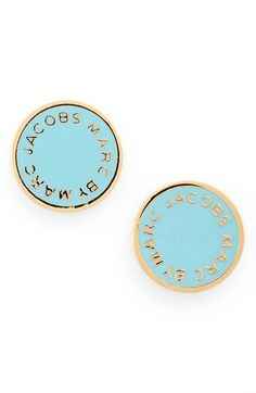Marc By Jacobs Enamel Logo Disc Earrings Available At Nordstrom