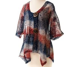 Red White and Blue Mesh Cardigan http://shop.crackerbarrel.com/Red-White-Blue-Mesh-Cardigan/dp/B00UKEGDKW