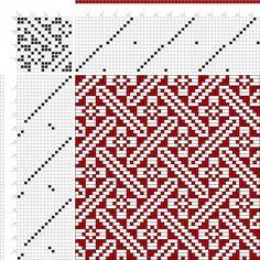draft image: Page 104, Figure 3, Bindungs-Lexikon für Schaftweberei, Franz Donat, 16S, 16T