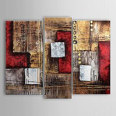 Home Decor - Wall Art - Oil Paintings - Hand-painted Abstract Oil Painting without Frame - Set of 3 Oil Painting Abstract, Abstract Canvas, Oil Paintings, Watercolor Art, Diy Canvas Art, Hand Painted Canvas, Oil Paint Set, Modern Art For Sale, Online Painting