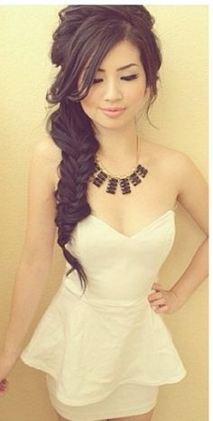 side braid hairstyles bridal asian hair - Google Search