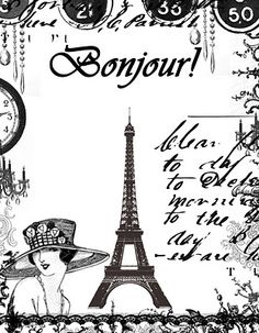 **FREE ViNTaGE DiGiTaL STaMPS**: FREE Digital Stamp - Eiffel Tower Collage