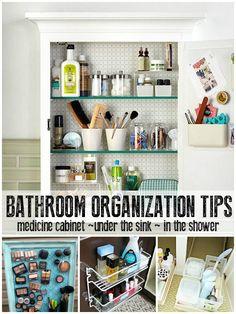 How to organize your bathroom -- maximize that space! @Remodelaholic #spon #organize #bathroom