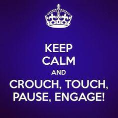 Keep calm, play rugby.