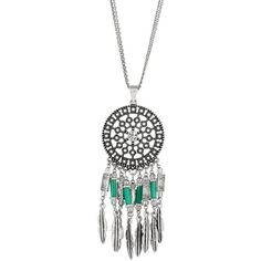 Trendy Dream Catcher Long Pendant Necklace ($23) ❤ liked on Polyvore
