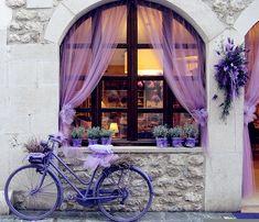 lavendar bike