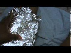 como eliminar dor usando papel aluminio