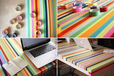 DIY: Dúhový stôl