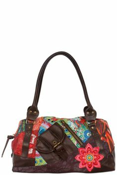 Desigual Women's Tokyo-Seduccio bag. Bag with short handles, several pockets and zip fastening.