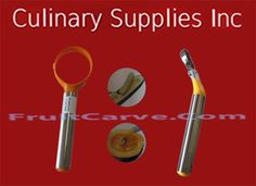 Pumpkin Scoop and Vegetable Corer Set : Culinary Supplies Knives Garnish Tools Fruit Carving Supplies