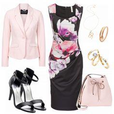 Business Outfits: Tulpe bei FrauenOutfits.de #mode #damenmode #frauenmode #outfit #damenoutfit #frauenoutfit #mode2018 #trend2018 #modetrend #fashion #fashionista #fashionidol #blogger #business #büro #etuikleid #blazer #sandaletten #schwarz #rosa