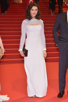 The Lobster premiere – May 15 2015 Rachel Weisz wore a Louis Vuitton custom-made gown. Celebrity Red Carpet, Celebrity Photos, Cannes Film Festival 2015, Cannes 2015, Cheryl Fernandez Versini, Valentino Couture, Oscar Dresses, Rachel Weisz, Hollywood Fashion