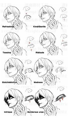 anime drawing tips face