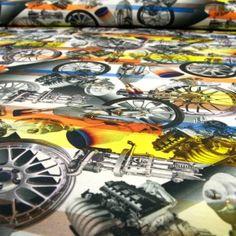 Jerseystoff Digitaldruck Autoteile
