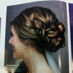 Hair for wedding?  I would definitely need some extensions to accomplish this look!