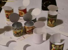 Realistic looking tin cans made out of paper | Source: Tus Minaturas