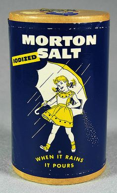 Morton Salt. #vintage #product #packaging    Source: The Museum of American Packaging. http://www.flickr.com/photos/roadsidepictures/sets/939353/