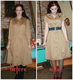 Craft, Thrift, or Die: Yes, more refashions...fifty cent shirt dress!
