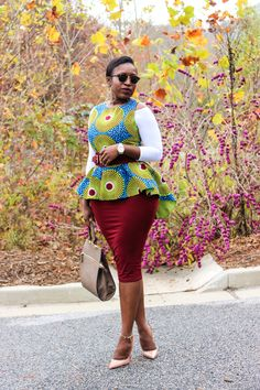 THE ANKARA PEPLUM TOP