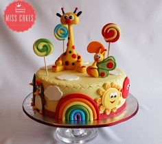 Baby Tv Cake, Baby Tv Torta. Pretty Cakes, Cute Cakes, Baby Tv Cake, Boys 1st Birthday Cake, Occasion Cakes, Love Cake, Fondant Cakes, Celebration Cakes, Baby Shower Cakes