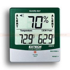 http://termometer.dk/luftfugtmaler-r13208/fugt-detector-display-med-store-cifre-53-445814-r13220  Fugt Detector, display med store cifre  % RH akustisk og visuel alarm, når luftfugtigheden overstiger den forudindstillede grænse  Viser temperatur% RF og dugpunkt  Max / min med genvinding  Fugtighed: 10 til 99%  Temperatur: -10 til 60 ° C  Præcision: ± 4% RH , ± 1 ° C Garanti: 2 År
