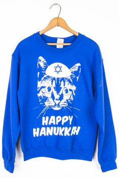 Yamaka Cat Hanukkah Sweatshirt