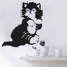 Kitty Cat Wall Decal