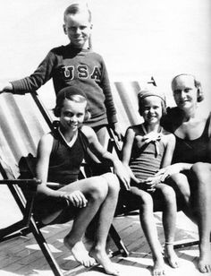 Grace & Family:  Peggy, Kell, Grace and Mom Margaret Kelly at Ocean City Beach.