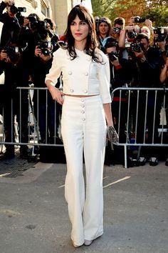 Caroline Sieber - Paris Fashion Week.  (September 2014)