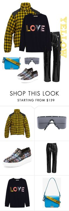 """""""Yellow Plaid"""" by kvogele on Polyvore featuring Gucci, Porsche Design, F-Troupe, rag & bone, Off-White, PopsOfYellow and NYFWYellow"""