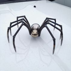 Metal Sculpture, Welded Sculpture, Metal Spider, Spider Sculpture, Handmade Spider, Metal Art, Welded Spider, Steel Spider,