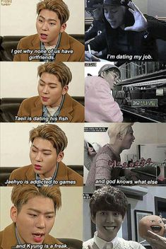 Read 33 from the story Kpop Memes by (ThankYouWoojin) with 968 reads. Funny Kpop Memes, Stupid Memes, Kdrama Memes, Exo Memes, Jessi Kpop, Zico Block B, Bbc, Thats The Way, Derp