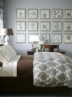 Frame multiple similar prints in uniform rows