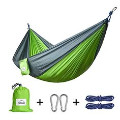 Double and Single Camping Hammocks Ultralight Portable Nylon Parachute Multifunctional Hammocks for Light Travel Camping Hiking Backpacking Mats Swing Carpet Apriller ** You can get additional details at the image link. Note: It's an affiliate link to Amazon