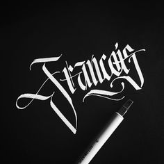 For Francois (on Tumblr) who asked nicely. __________________________________ #makedaily #calligraphy #calligraffiti #calligritype #typographyinspired #blackletter #inking #ink #Fraktur #lettering #automaticpen #handstyles #thedailytype #caligrafia #graffiti #showusyourtype #graphicdesign #goodtype #typedaily #typespire #handmadefont #art