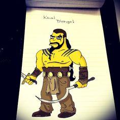 """""""Re Khaleesi maan ja.... #Homer #Simpson #KhalDrogo #GOT #GameOfThrones #Homerization"""""""