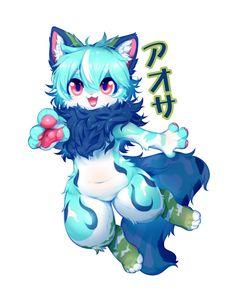 Kawaii Drawings, Cute Drawings, Fluffy Animals, Cute Animals, Wolf Artwork, Furry Comic, Creature Drawings, Furry Drawing, Fantasy Art