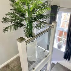 Our Wonderful Gallery of Staircases Refurbishments | Stairfurb's Gallery Oak Newel Post, Newel Post Caps, Wall Mounted Handrail, Oak Handrail, Stainless Steel Handrail, Stair Lighting, Glass Balustrade, Weird Shapes, White Walls