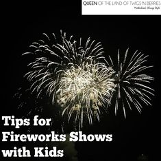 How to Navigate a Fireworks Show with Kids - Queen of the Land of Twigs 'N Berries