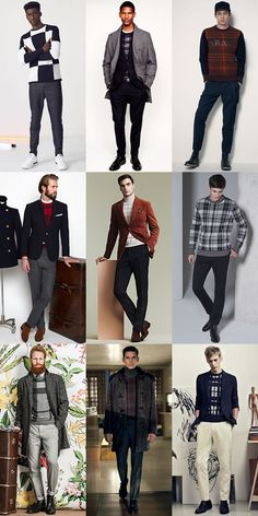 Men's Checked Knitwear Outfit Inspiration Lookbook
