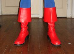 DIY Captain America boots, you could use this for any time you need to make specific shoes for a costume