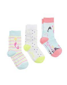 3er-Set Socken NOVELTY Meerjungfrau
