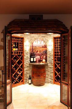 Wine Cellar Art On Tile Mural - mediterranean - wine cellar - other metro - Compassionate Arts International
