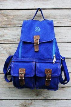 NWT Ralph Lauren Denim Supply Metallic Canvas Suede School Book Bag Gym Backpack