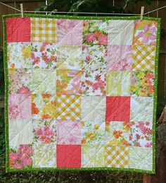 Quilted Baby Blanket by Smile And Wave, via Flickr