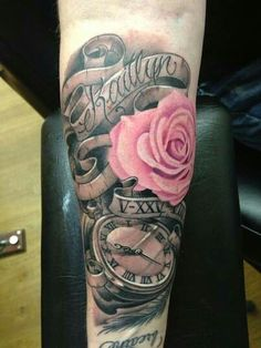Childs name, birthday in roman numerals and time of birth in the clock                                                                                                                                                      More