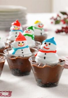 Snowman Cups — These cute Snowman Cups are fun to make (and eat!) with kids. With chocolate pudding, OREO Cookies and whipped topping, they're a treat for all ages. Enter the Share it. Pin it. Win it. Sweepstakes! Pin your favorite holiday recipe or pin your own for a chance to win a tablet! Visit www.kraftrecipes.com/shareit for complete details. #PintoWinSweepstakes