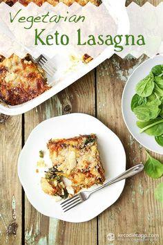 Vegetarian Keto Lasagna (low-carb, primal)